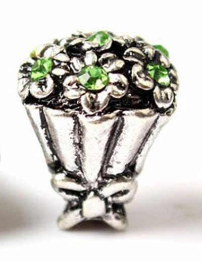 Btuamb מקסי הצהרת קטן פרח בית כוכב פיל קסם קריסטל חרוזים Fit פנדורה צמידים & צמידי נשים ביצוע תכשיטים