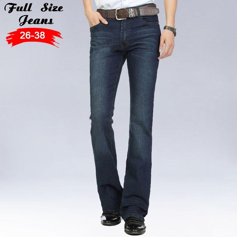 Jeans Slim Homme 2017 Mens Streetwear Flare Jeans Famous Brand Boot Cut Gental man BootCut Male Classic Denim Jeans 4XL 3XL