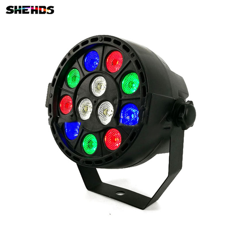 2 unids / lote LED Efecto de luz de escenario 12x3W Flat Par RGBW DMX512 DJ Disco Lámpara KTV Bar Party Backlight Beam Proyector Dmx Spotlight