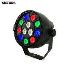 2 pcs/lot LED Stage Light Effect 12x3W Flat Par RGBW DMX512 DJ Disco Lamp KTV Bar Party Backlight Beam Projector Dmx Spotlight