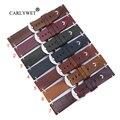 Ремешок для часов CARLYWET 22  24 мм  ремешок из натуральной кожи с винтовой пряжкой для Panerai Tudor IWC Fossil Tag Heuer
