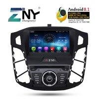 Android 8,1 автомобильный DVD авто радио для фокуса 2011 2017 gps навигация Bluetooth Мультимедиа Аудио Видео Стерео 2 + 16 Гб Подарочная камера
