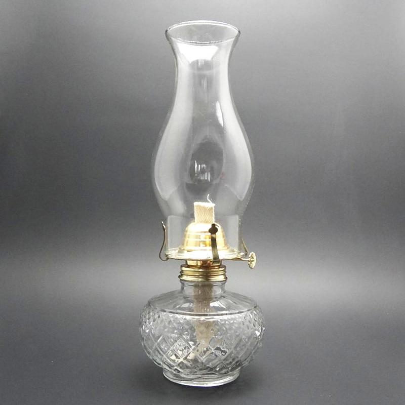 Advance Booking 33cm Glass  Large Capacity Oil Lamp Glass Classic Retro Family Decorative Lights High Quality Kerosene Lanterns