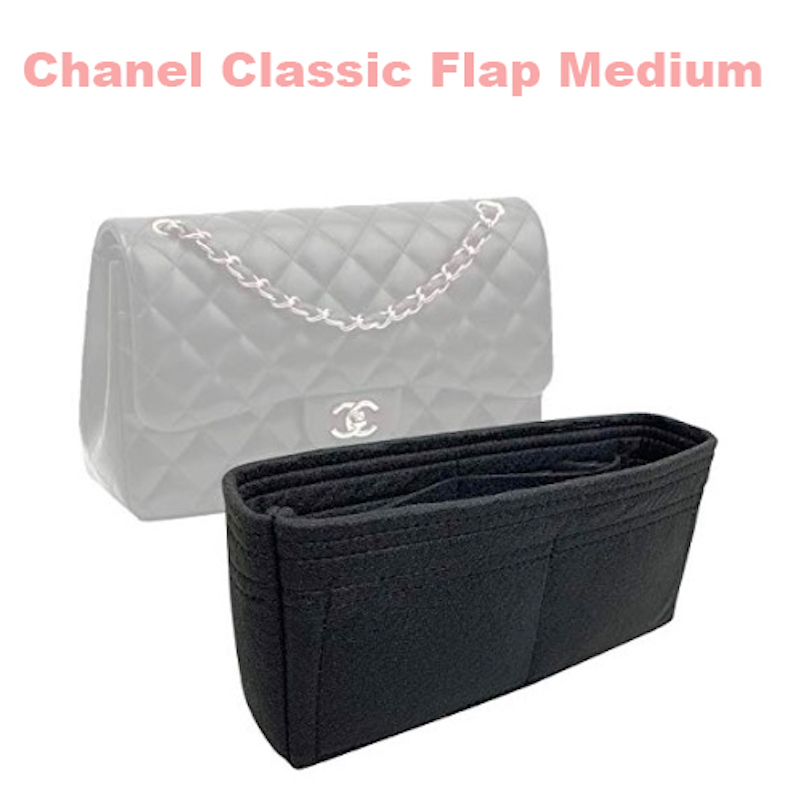 Fits Classic Flap Medium Bag Insert Organizer - 3MM Premium Felt (Handmade/20 Colors)