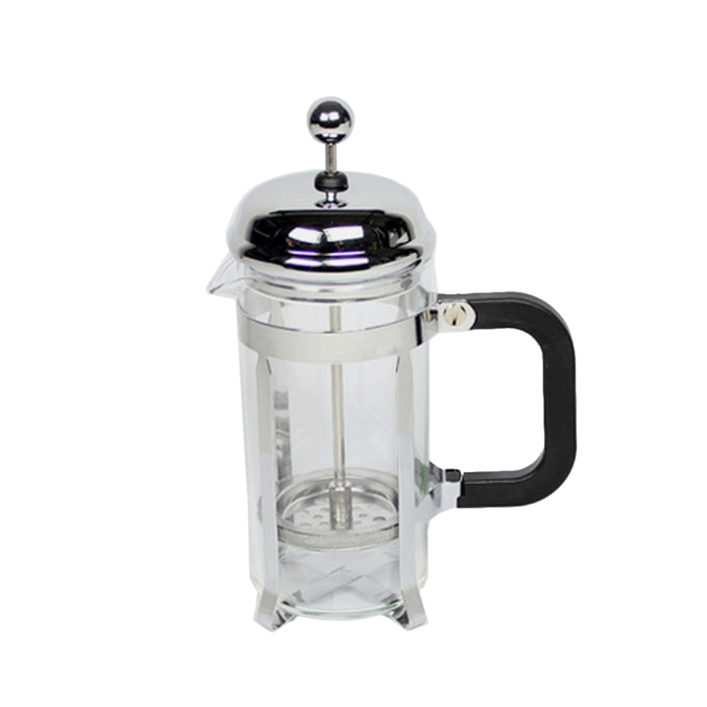 350ml Stainless Steel Glass Tea Coffee Cup french Plunger Press Maker fashion 350ml stainless steel automatic stirring mixing coffee cup mugs