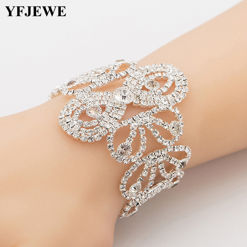 YFJEWE Crystal Bracelets...