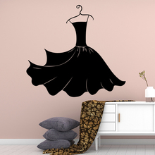 Luxuriant Little Black Dress Wall Stickers Self Adhesive Art Wallpaper For Girl Room Decor Vinyl Decals Store Sticker