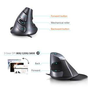 Image 4 - Delux M618BU эргономичная офисная Вертикальная мышь, 6 кнопок, 600/1000/1600 dpi, мыши с правой рукой, коврик для запястья, для ПК, ноутбука, компьютера