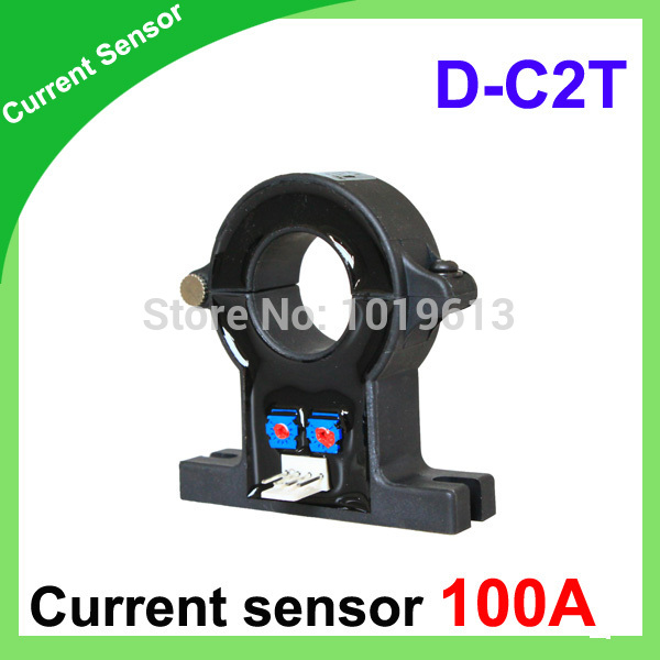 D-C2T Single hall effect current sensor 100a of DC current transducer hall current sensor hall current sensor transducer current sensors output 4 20ma 0 5v 0 250a 25mm hole diamter