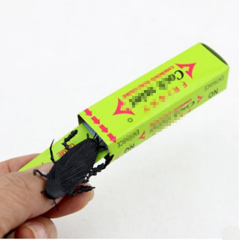 Funny Gadgets Soft Pvc Plastic Cockroach Simulated Chewing Gum Children Scary Toys Halloween Replica Practical Jokes Squishy Toy