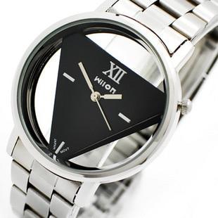 Marca Triángulo en forma de cuarzo analógico de los hombres relojes - Relojes para hombres