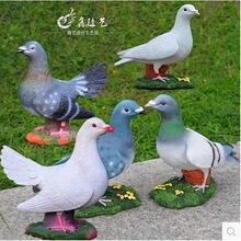 Оригинальные украшения для дома смолы птица дом ремесла Свадебный