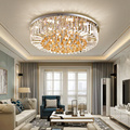 主導現代のシーリングライト K9 クリスタル現代天井ランプラウンド光沢自宅室内照明器具 3 白色調光制御 -