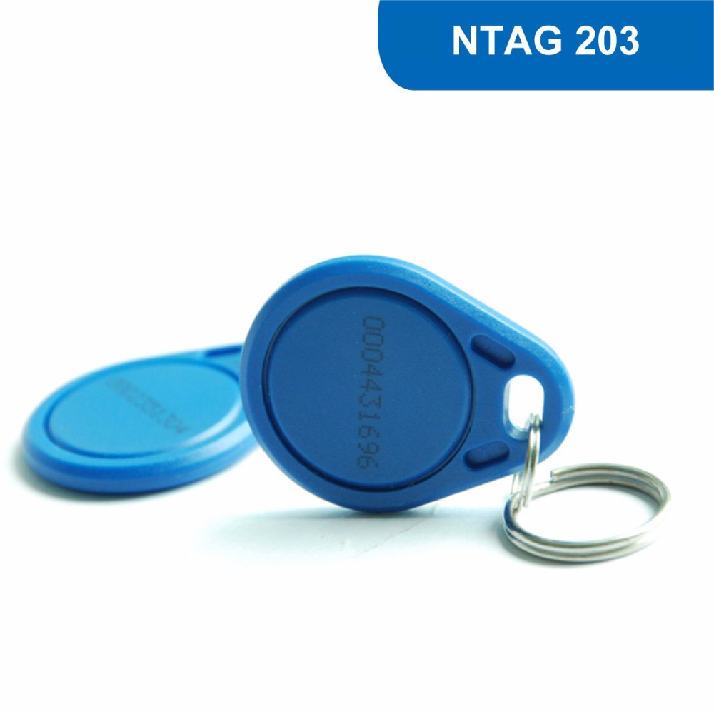 KT03 RFID Access Control key Tag Card NFC KEYFOB Contactless Proximity Tag 13.56MHZ 144BYTES R/W ISO14443A With NTAG 203 Chip waterproof contactless proximity tk4100 chip 125khz abs passive rfid waste bin worm tag for waste management