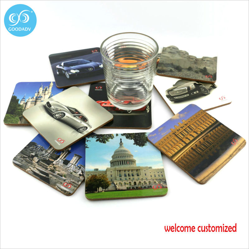 Goodeadv brand latest design promotion cool vehicles serie cup coasters high quality and low price order 3 sets free shipping