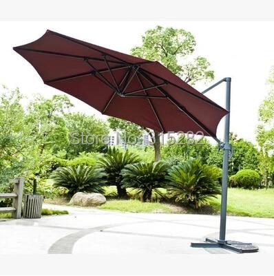 3*3 Meter Aluminum Big Umbrella Garden Sun Umbrella Parasol Patio Cover  Sunshade Outdoor Furniture Covers 360 Degrees Rotation