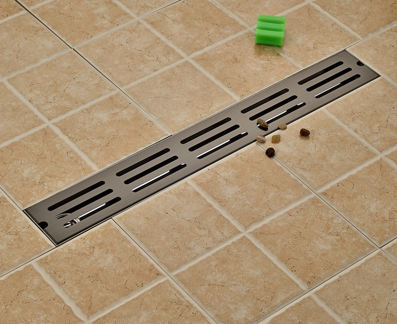 New Oil Rubbed Bronze 70cm Floor Drain Bathroom Accessories Shower Grate Waste brass square antique bronze bathroom floor drain waste grate shower drainer 100 100mm