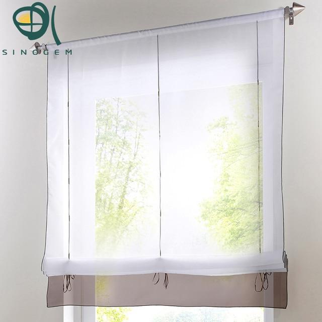 Superior Decoration Garden Curtain,Liftering Ribbon Roman Curtain,height Adjustable  Roman Blinds Rod Pocket Top