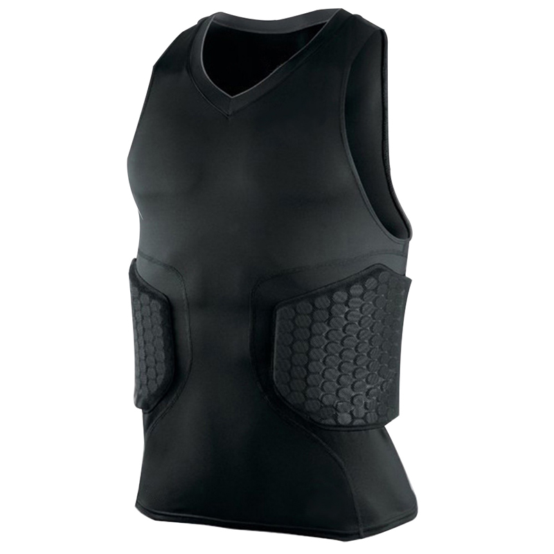 Men Outdoor Tactical Vest Bulletproof Honeycomb V-neck Sleeveless Collision Quick-drying Vest Tight Jackets