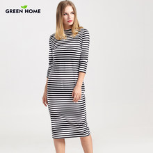 c3ac6cddccd Green Home Winter Maternity Nursing Dress Full Sleeve Striped Thick  Maternity Dresses For Pregnant Women Breastfeeding clothes