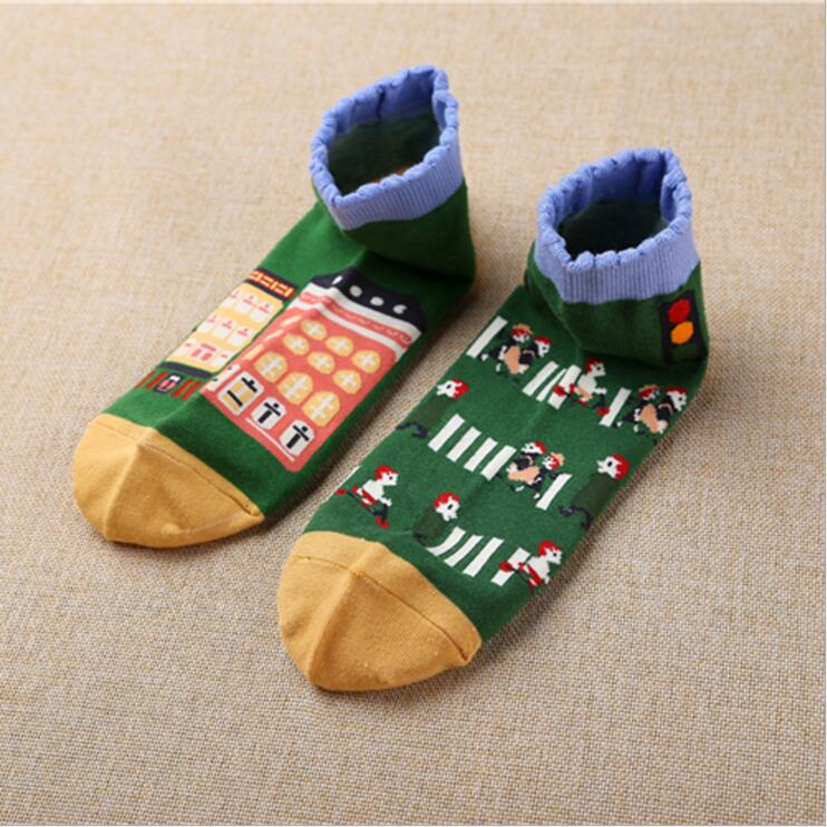New Traffic lights pattern women/girl socks comfortable lovely cute socks cotton Casual Chaussette Warm Calcetines Sox