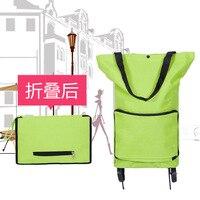 Portable Folding Receive Cart Travel Shopping Bag Tug Bag Tug Hand In Hand