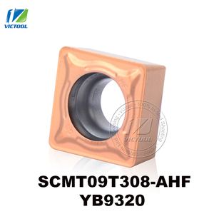 Turning tools SCMT09T308-AHF YB9320 tungsten carbide turning insert for semi-finishing and finishing stainless steel SCMT09T308