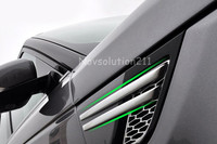 Car Outer Side Fender vents Decorative Cover Trim For Land Rover Range Rover Sport 2014 2015 2016 Auto Accessories