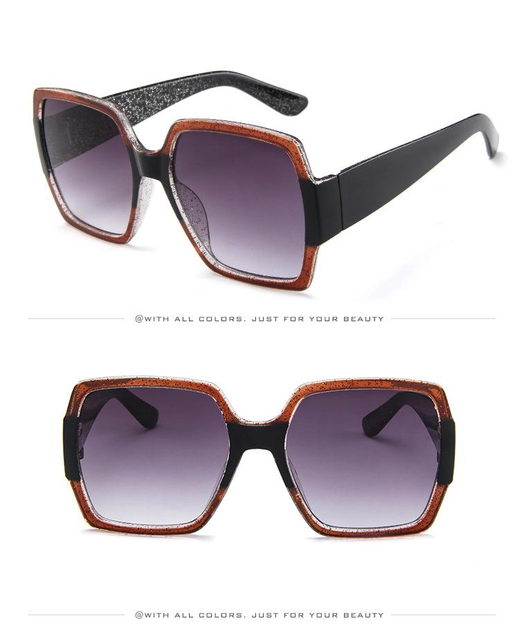 19 Oversized Sunglasses for Women Brand Designer Retro Sun glasses Red Green Shades Eyewear sunglasses woman 8