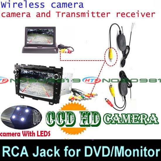 Проволочная Беспроводная Автомобильная камера заднего вида для парковки широкий anlge для sony ccd Mitsubishi Pajero ZINGER/V3/V93/V6/V8/97 - Название цвета: ccd LED wireless DVD