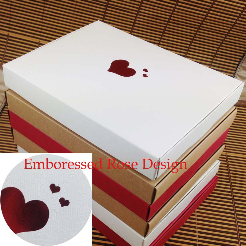 Bigger Mother Day Gift Box 10pcs 20*2.5*15cm Wedding Favour Box Macaron Packaging Caixa Kraft Paper Boxes Jewelry Cake Gift