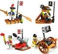 El Envío Gratuito! * Pirate & Ejército set * DIY ilumine ladrillos bloque, Compatible Con lego Monta los
