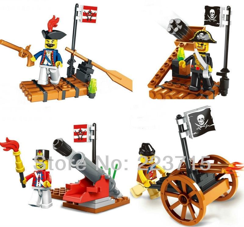 Gratis frakt! * Pirat og Army sett * DIY opplys blokk blokker, Kompatibel med Assembles Particles