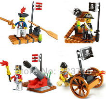 Free Shipping!*Pirate&Army set* DIY enlighten block bricks,Compatible With Assembles Particles