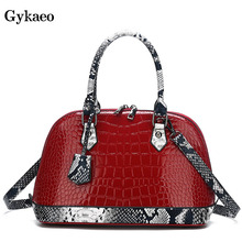 купить European and American Style Street Fashion Tote Bag Ladies Crocodile Pattern Crossbody Bags for Women Casual Messenger Bag Bolsa дешево