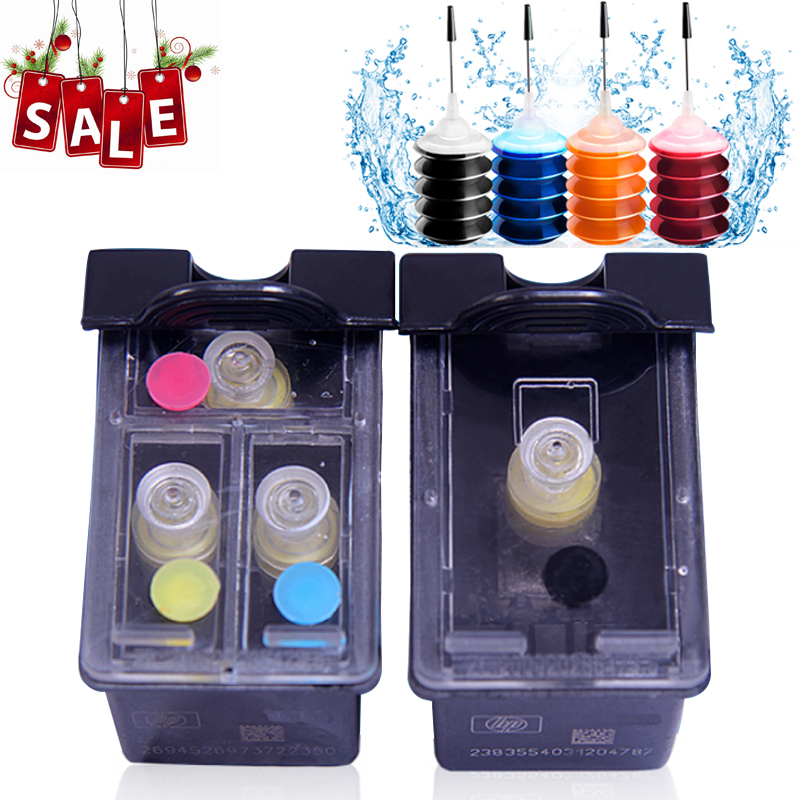 2X Refillable Ink Cartridge replacement for HP 21 22 XL Deskjet 3915 D1530 D1320 F2100 F2280