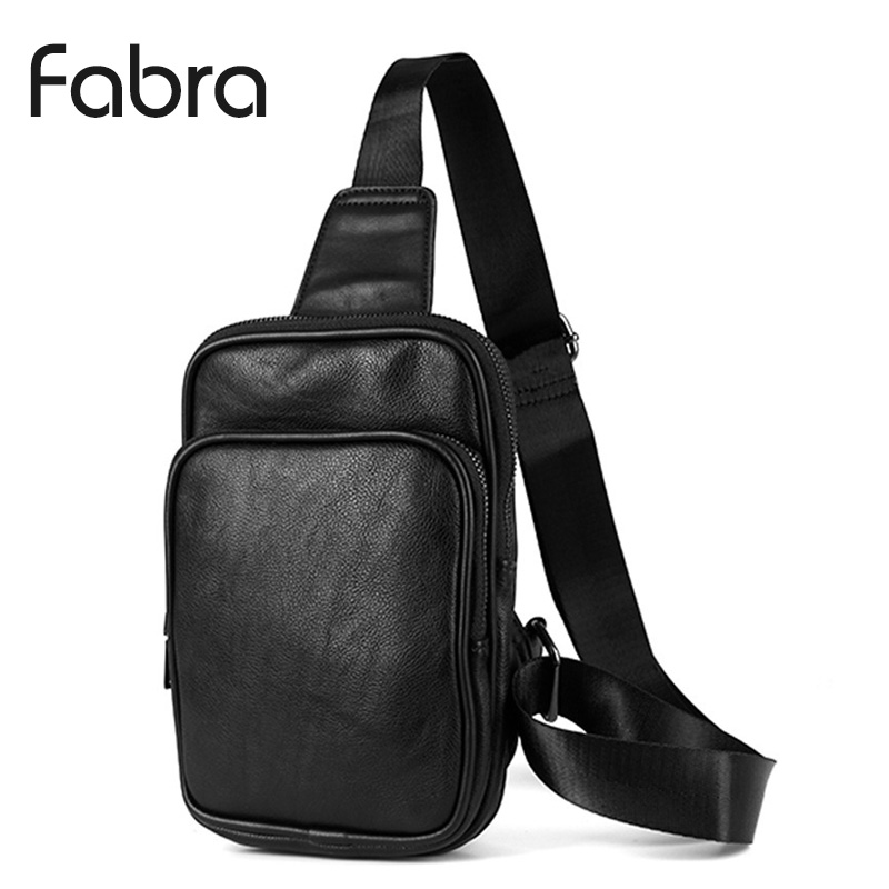Fabra New Male Chest Bag Man Messenger Bags Casual Travel PU Leather Small Crossbody Back Phone Pack Men Shoulder Sling Bag miwind men travel chest pack leather men crossbody bags men casual messenger bag small brand designer male shoulder bag tzt909