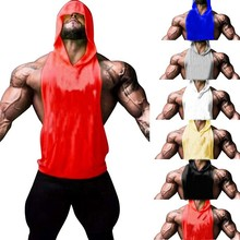 ZOGAA Men Bodybuilding Tank Tops Gyms Fitness Workout Sleeveless Hoodies Man Casual Camouflage Hooded Vest Male Camo Clothing
