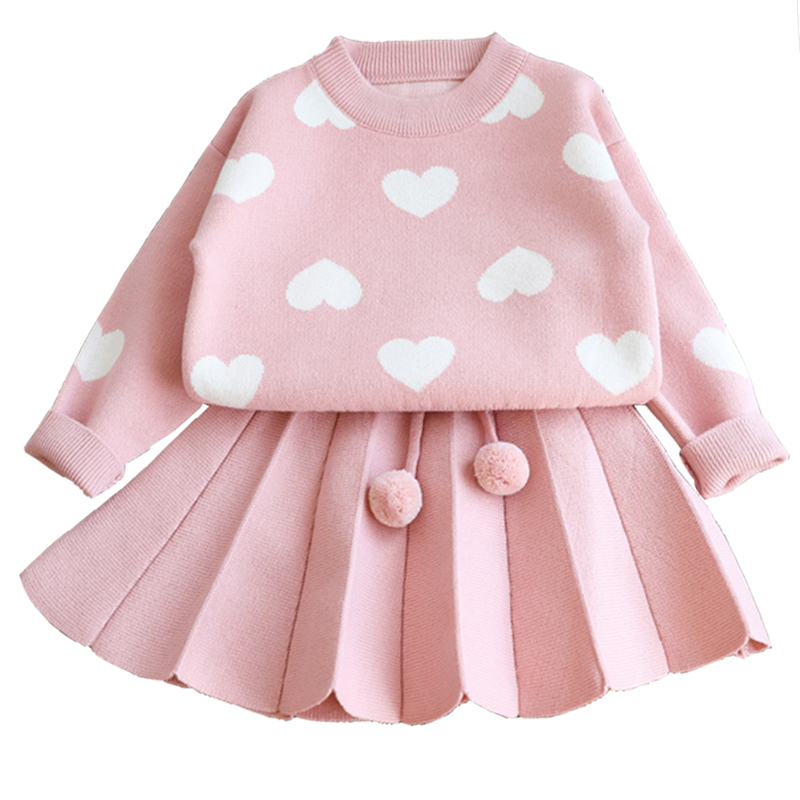 Women Clothes Set Youngsters knitwear Sweater Garments For Women Toddler Knitting Outfits Go well with 2019 Trend knit put on 5yrs costume Clothes Units, Low cost Clothes Units, Women...