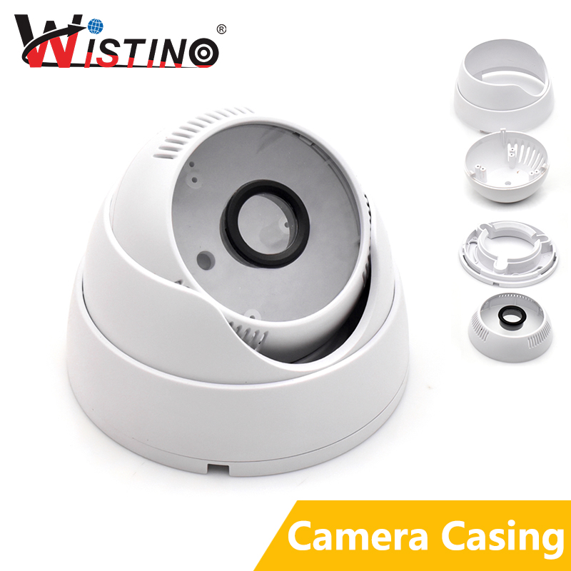 Dome Camera Housing ABS Plastic IP Camera Casing For CCTV Surveillance Security Camera Outdoor Use Cover Case Self Make Wistino wistino white color metal camera housing outdoor use waterproof bullet casing for cctv camera ip camera hot sale cover case