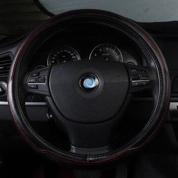 Чехол рулевого колеса автомобиля из натуральной кожи Аксессуары Для Ssangyong actyon korando kyron rexton tesla model s