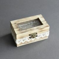Personnalisé Boîte De Bague De Mariage, Rustique Boîte De Bague De Mariage, Personnalisé En Bois Bague De Mariage Au Porteur, Cadeau pour le Mariage