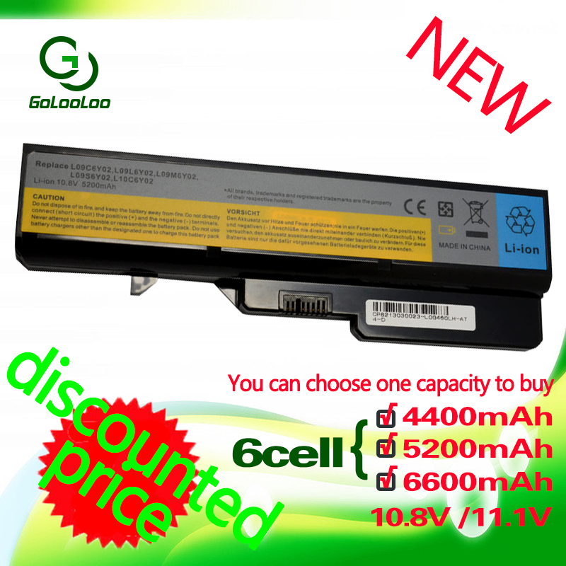 Golooloo 6 Cells Battery For Lenovo IdeaPad B470 Z370 G460 B570 B570e G560 V370 V470 Z460 Z560 Z465 L10P6Y22 Z570 LO9S6Y02 G570