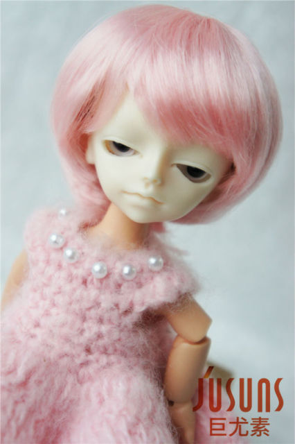 1/12 tiny doll wigs  4-5 inch Enfant Short BJD wigs  Synthetic Mohair doll accessories