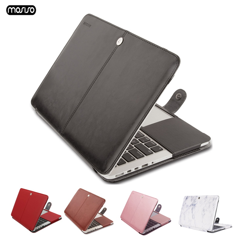 MOSISO PU Leather Case for Macbook Pro Retina 15 Model A1398 Case For Laptop Bag Sleeve Leather Notebook Bag for Macbook Pro Cas-in Laptop Bags & Cases from Computer & Office