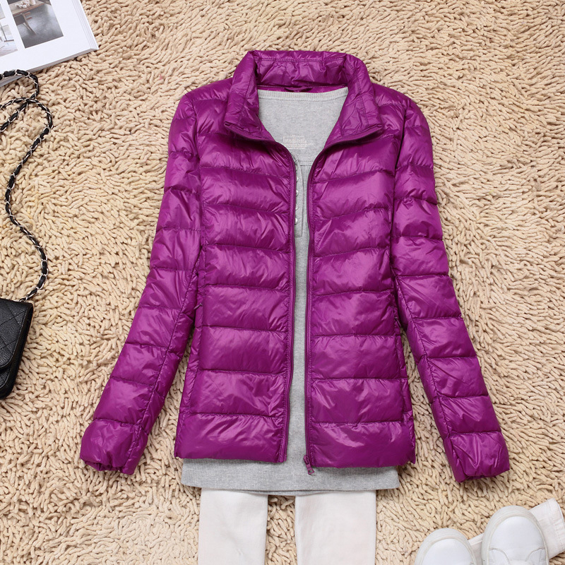 12f6b651bb06 Ladies Quilted Padded Puffer Bubble Stand Collar Warm Thick Womens Jacket  Coat-in Down Coats from Women s Clothing on Aliexpress.com