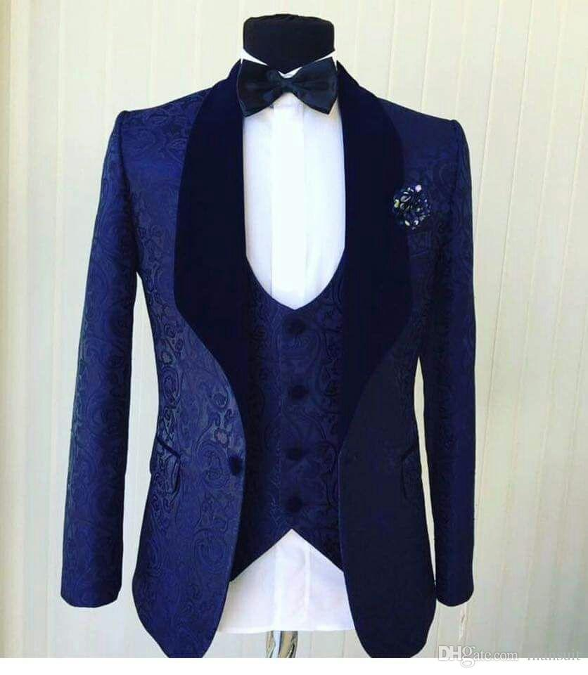 New Arrival One Button Groomsmen Shawl Lapel Groom Tuxedos Men Suits Wedding/Prom Best Man Blazer ( Jacket+Pants+Vest+Tie)A101