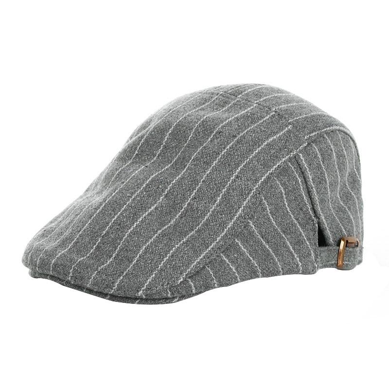 US Fashion Kids Baby Girl Boy Beret Hat Peaked Cap Child Striped Caps Hats