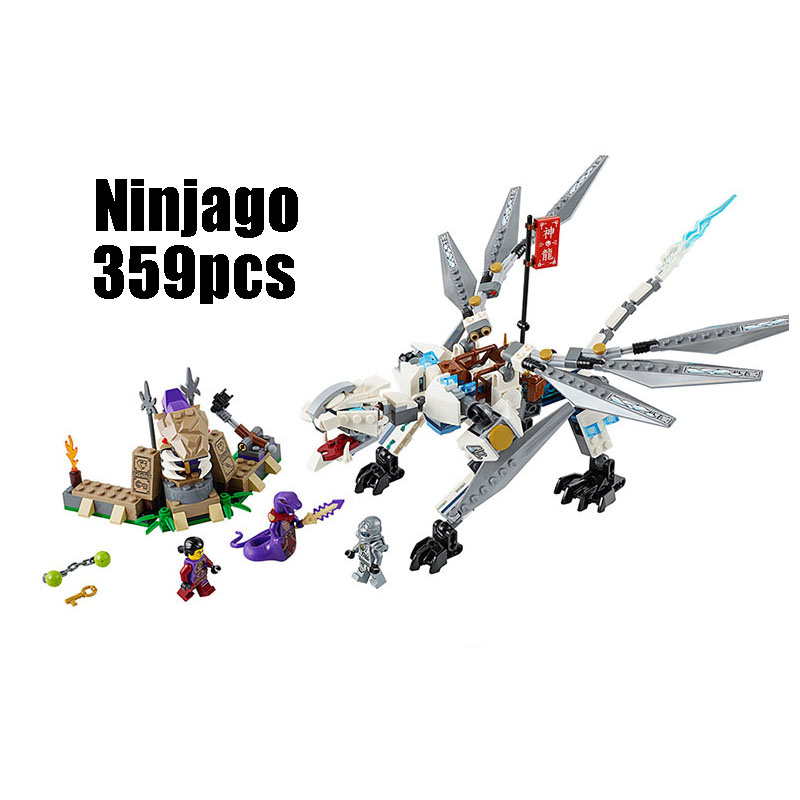 Compatible with Lego Ninjagoes 70748 LELE 79111 359pcs blocks Ninjago Figure Titanium Dragon toys for children building blocks compatible with lego ninjago 9450 lele 79132 959pcs blocks ninjago figure epic dragon battle toys for children building blocks