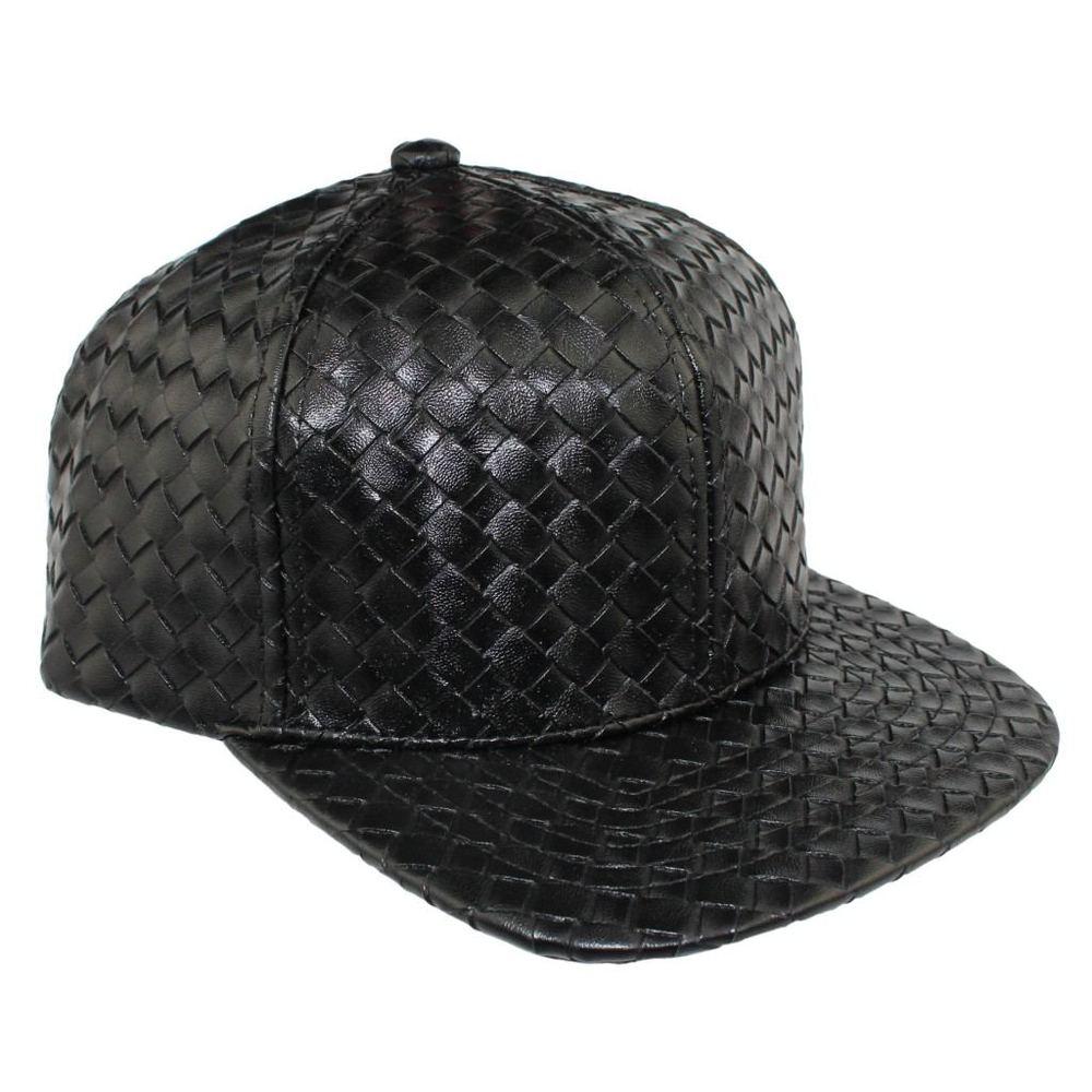 Bboy в стиле хип-хоп Танцы Шапки и шляпа бейсболка Человек Женщины Креста Ткань Кожа Cap Летний плед дизайн открытый ВС шляпы Повседневная 7 видов цветов - Цвет: Черный